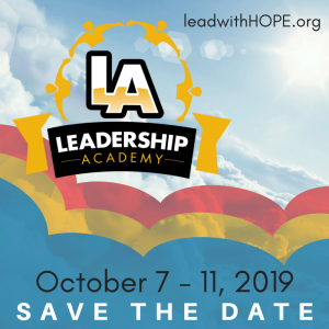 Save the date Leadership Academy 2019